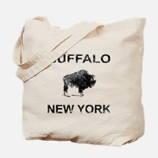 Dark Vintage Buffalo Tote Bag