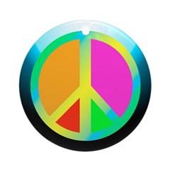 Neon Peace Sign Christmas Tree Ornament