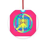 Neon Peace On Earth Christmas Ornament