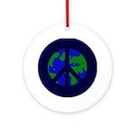 Earth Peace Sign on Christmas Ornament