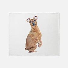 Miniature Pinscher (red) Throw Blanket