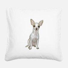 Chihuahua (W) Square Canvas Pillow