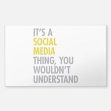 Its A Social Media Thing Sticker (Rectangle 10 pk)