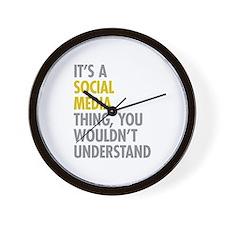 Its A Social Media Thing Wall Clock
