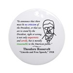 Theodore Roosevelt Quote Tree Ornament