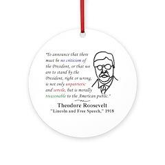 Theodore Roosevelt Quote Tree Ornament