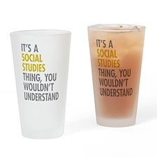 Social Studies Thing Drinking Glass