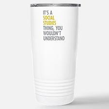 Social Studies Thing Travel Mug