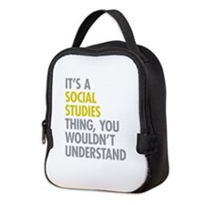 Social Studies Thing Neoprene Lunch Bag