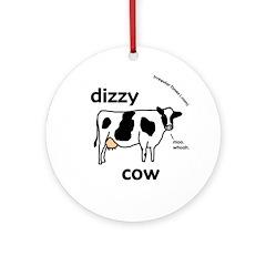 Dizzy Cow Christmas Tree Ornament