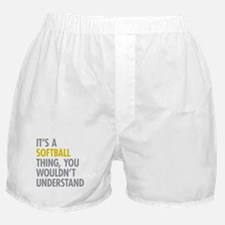 Its A Softball Thing Boxer Shorts