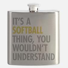 Its A Softball Thing Flask