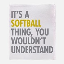 Its A Softball Thing Throw Blanket
