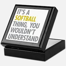 Its A Softball Thing Keepsake Box