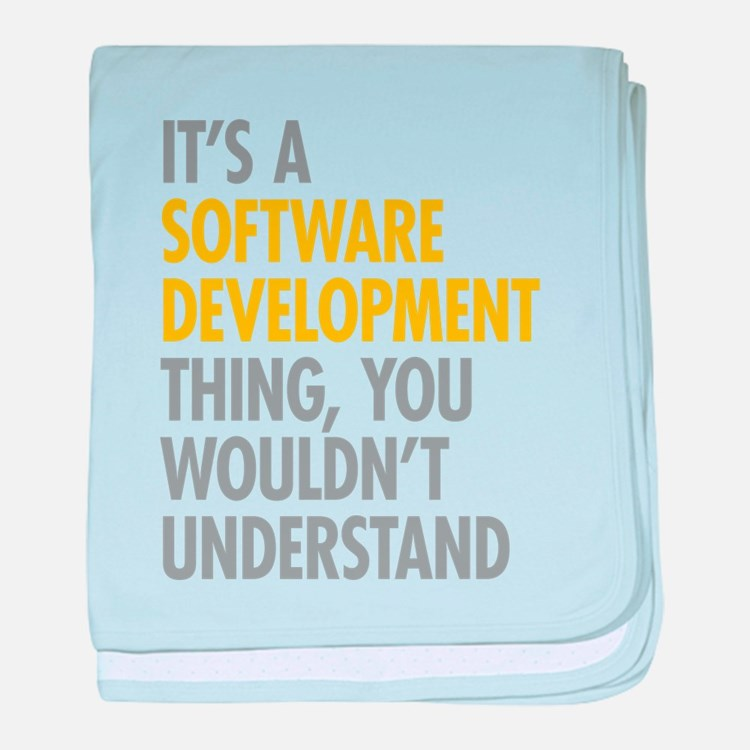 Software Development Thing baby blanket