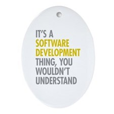 Software Development Thing Ornament (Oval)