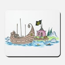 monkey pirate ship Mousepad