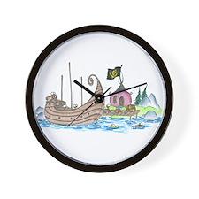monkey pirate ship Wall Clock