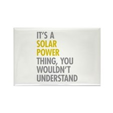 Its A Solar Power Thin Rectangle Magnet (100 pack)