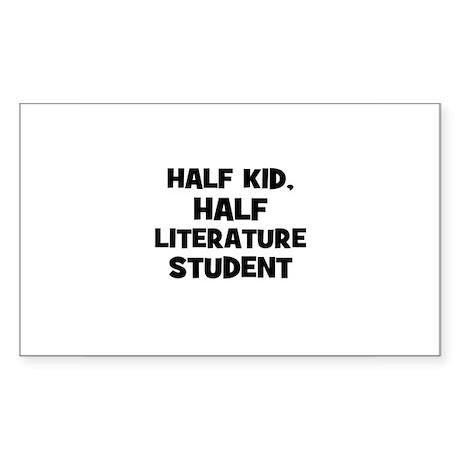 Half Kid, Half Literature Stu Sticker (Rectangular