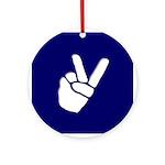 Peace Hand (Christmas Tree Ornament)