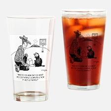 Beaver Cartoon 1640 Drinking Glass