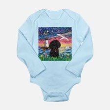 Seagull-BlackToyPoodle Long Sleeve Infant Bodysuit