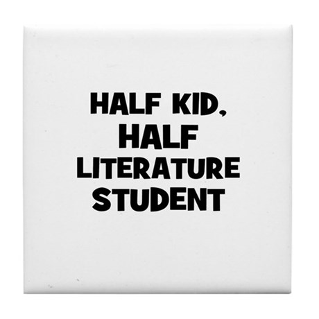 Half Kid, Half Literature Stu Tile Coaster
