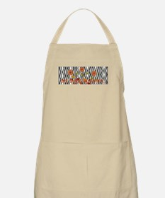 Custom Art Deco Autumn Floral Patterned Apron