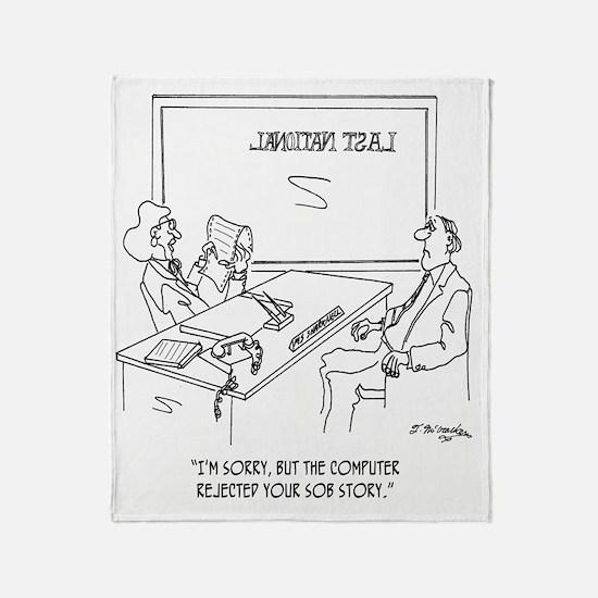 Bank Cartoon 1348 Throw Blanket