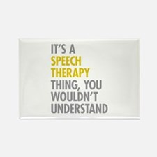 Its A Speech Therapy T Rectangle Magnet (100 pack)