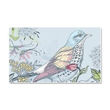 Bird and Flowers Car Magnet 20 x 12