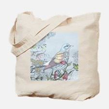 Bird and Flowers Tote Bag