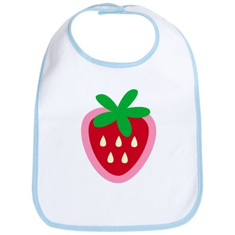 Strawberry Solitaire Bib