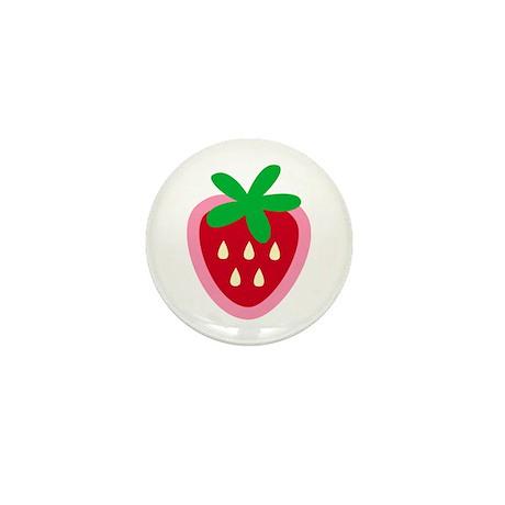 Strawberry Solitaire Mini Button