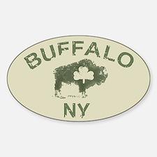 Buffalo Irish Oval Decal