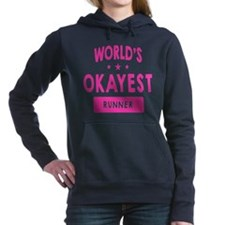 World's Okayest Runner Women's Hooded Sweatshirt