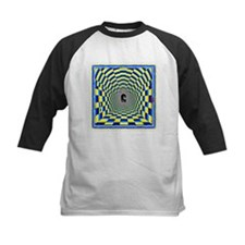 Checkered Wormhole Illusion Baseball Jersey