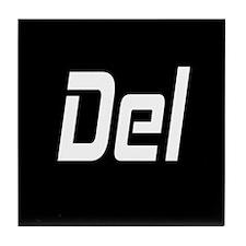 CTRL ALT DEL - BLACK Tile Coaster