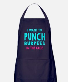Punch Burpees In The Face Apron (dark)