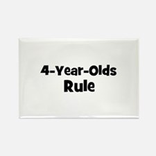 4-Year-Olds~Rule Rectangle Magnet