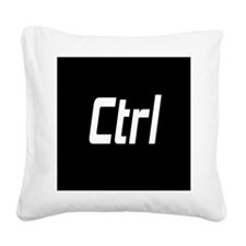 CTRL ALT DEL - BLACK Square Canvas Pillow
