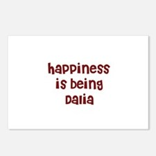 happiness is being Dalia Postcards (Package of 8)
