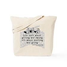 Knitting and Giving Tote Bag