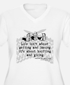 Knitting and Giving Plus Size T-Shirt