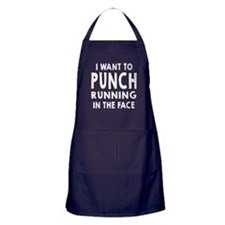 I Want To Punch Running In The Face Apron (dark)