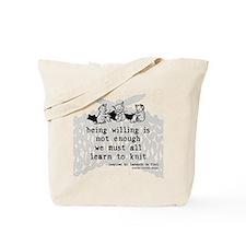 Da Vinci Knits Tote Bag