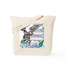 Blackbird and Hydrangea Square Tote Bag