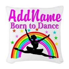BORN DANCING Woven Throw Pillow
