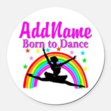 BORN DANCING Round Car Magnet